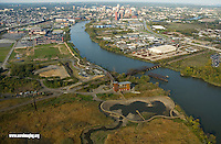 Aerial view of Wilmington Delaware Riverfront