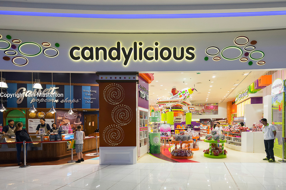 Candylicious Confectionery shop in Dubai Mall United Arab Emirates
