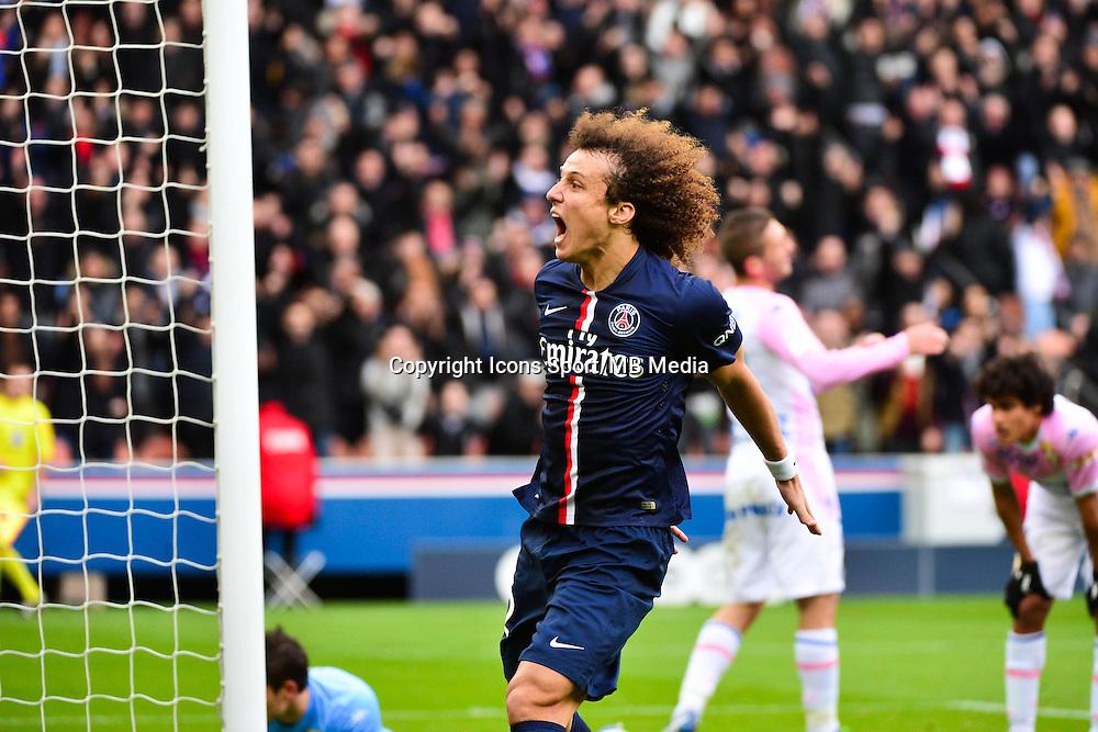 Joie PSG - David LUIZ - 18.01.2015 - Paris Saint Germain / Evian Thonon - 21eme journee de Ligue 1<br />Photo : Dave Winter / Icon Sport