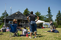 The Panorama lift brings visitors to the summit for the Mountain Top acoustic stage featuring the Hannah Dawber Band during Soulfest 2017 on Thursday afternoon.   (Karen Bobotas/for the Laconia Daily Sun)
