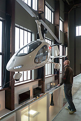 Gyrocopter on display at Red Dot Design Museum in Essen Germany