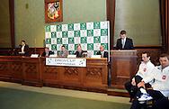 Wroclaw 31/01/2013.Davis Cup .Poland vs Slovenia.Draw ceremony.Photo by : Piotr Hawalej