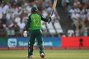 Quinton de Kock celebrates his 50 during the One Day International match between South Africa and England at PPC Newlands, Capetown, South Africa on 4 February 2020.