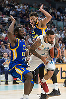 Real Madrid Jeffery Taylor and Khimki Moscow Charles Jenkinsand Anthony Gill during Turkish Airlines Euroleague match between Real Madrid and Khimki Moscow at Wizink Center in Madrid, Spain. November 02, 2017. (ALTERPHOTOS/Borja B.Hojas)