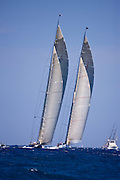 Velsheda and Ranger sailing in the 2010 Antigua Classic Yacht Regatta, Windward Race, day 4.