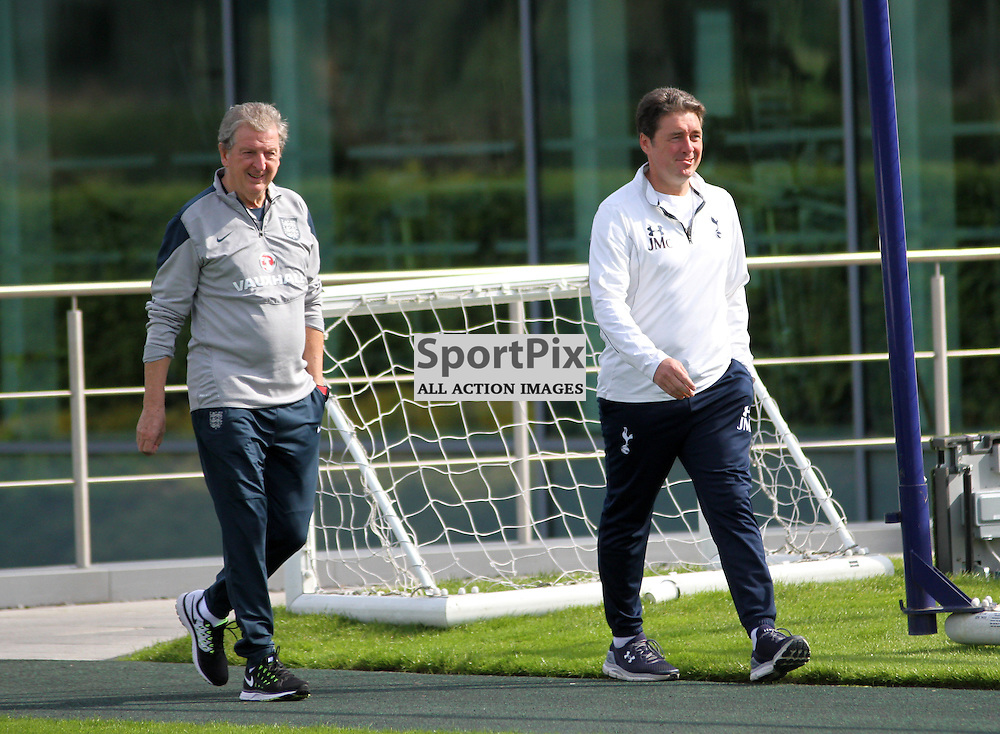 Roy Hodgson steps out for the training session on Monday the 7th September 2015.