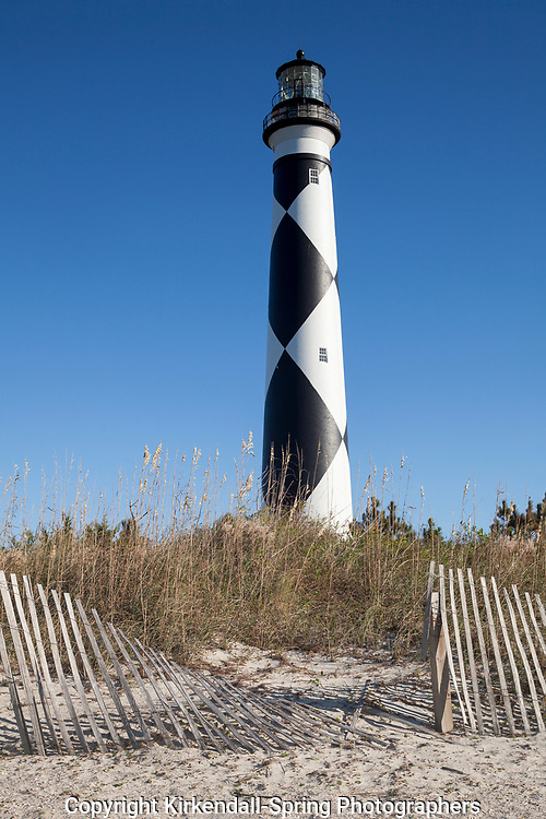 NC00874-00....NORTH CAROLINA - Cape Lookout Lighthouse on the South Core Banks in Cape Lookout National Seashore.