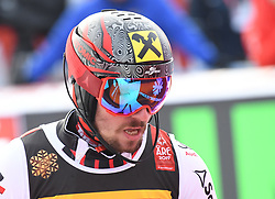 17.02.2019, Aare, SWE, FIS Weltmeisterschaften Ski Alpin, Slalom, Herren, 1. Lauf, im Bild Marcel Hirscher (AUT) // Marcel Hirscher of Austria reacts after his 1st run of men's Slalom of FIS Ski World Championships 2019. Aare, Sweden on 2019/02/17. EXPA Pictures © 2019, PhotoCredit: EXPA/ Erich Spiess