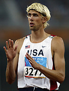 Matt Hemmingway of the United States finished second in the high jump in a season-best 7-8 (2.34m) in the 2004 Olympics in Athens, Greece on Sunday, August 22, 2004.