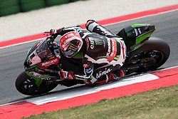 June 17, 2017 - Misano Adriatico, Italy - Jonathan Rea of Kawasaki Racing Team mark the second time during the superpole 2 of the Motul FIM Superbike Championship, Riviera di Rimini Round, at Misano World Circuit ''Marco Simoncelli'', on June 17, 2017 in Misano Adriatico, Italy  (Credit Image: © Danilo Di Giovanni/NurPhoto via ZUMA Press)