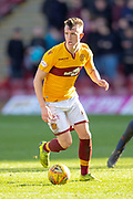 David Turnbull (#28) of Motherwell FC during the Ladbrokes Scottish Premiership match between Motherwell FC and Heart of Midlothian FC at Fir Park, Stadium, Motherwell, Scotland on 17 February 2019.