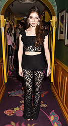 Singer Birdy at the Annabel's Bright Young Things Party held at Annabel's, 44 Berkeley Square, London England. 16 February 2017.