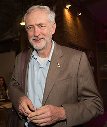 © Licensed to London News Pictures. 01/09/2015. London, UK. Jeremy Corbyn arrives at the Arcola Theatre in Dalston, east London this evening, where he launched his Vision for the future of the arts. Photo credit : Vickie Flores/LNP