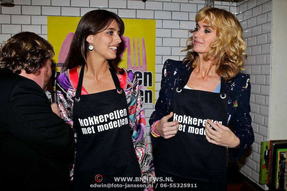 """NLD/Amsterdam/20100421 -  Presentatie Bastiaan van Schaik boek """"Koken met Modellen"""", Marvie Rieder, Daphne Deckers"""
