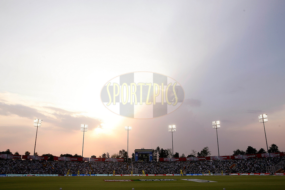 A general view of the stadium during match 9 of the Indian Premier League ( IPL ) Season 4 between the Kings XI Punjab and the Chennai Super Kings held at the PCA stadium in Mohali, Chandigarh, India on the 13th April 2011..Photo by Money Sharma/BCCI/SPORTZPICS