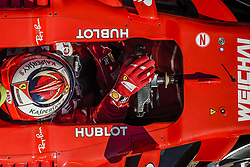 March 10, 2017 - Montmelo, Catalonia, Spain - KIMI RAIKKONEN (FIN) in his Ferrari SF70H at the pit stop at day 8 of Formula One testing at Circuit de Catalunya (Credit Image: © Matthias Oesterle via ZUMA Wire)