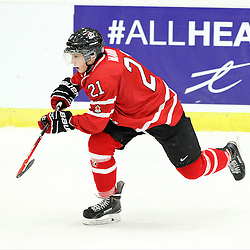 COBOURG, - Dec 13, 2015 -  Game #1 - Czech Republic vs Canada West at the 2015 World Junior A Challenge at the Cobourg Community Centre, ON. Joseph Nardi #21 of Team Canada West skates after the puck during the first period.(Photo: Tim Bates / OJHL Images)