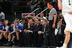 Nov 21, 2008; New York, NY, USA; Duke Blue Devils head coach Mike Krzyzewski shouts instructions during the 2K Sports Classic Championship game at Madison Square Garden.