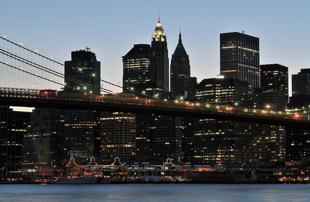 Manhattan on twilight