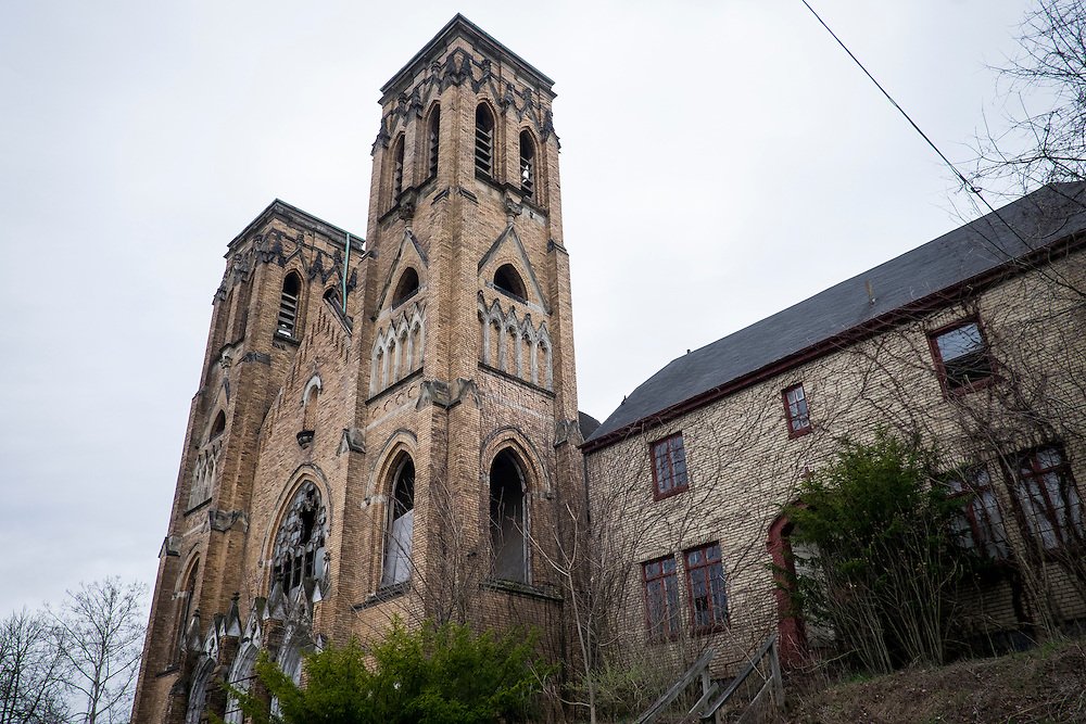 Holy Trinity Church is a gothic-revival style church dedicated in 1907 in Duquesne, Pa. <br />
