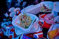 Fast food leftovers at a late night restaurant. Midsummer night, Leksand, Sweden