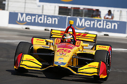July 13, 2018 - Toronto, Ontario, Canada - RYAN HUNTER-REAY (28) of the United States takes to the track to practice for the Honda Indy Toronto at Streets of Exhibition Place in Toronto, Ontario. (Credit Image: © Justin R. Noe Asp Inc/ASP via ZUMA Wire)