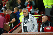Manchester United Manager Jose Mourinho during the EFL Cup match between Manchester United and Burton Albion at Old Trafford, Manchester, England on 19 September 2017. Photo by John Potts.