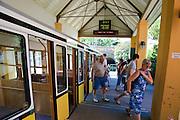Standseilbahn, Bergstation, Weißer Hirsch, Loschwitz, Dresden, Sachsen, Deutschland.|.funicular railway, Weißer Hirsch, Loschwitz, Dresden, Germany