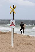 """Warning: submerged """"Buhne""""."""