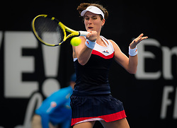 January 1, 2019 - Brisbane, Australia - Johanna Konta of Great Britain in action during her first-round match at the 2019 Brisbane International WTA Premier tennis tournament (Credit Image: © AFP7 via ZUMA Wire)