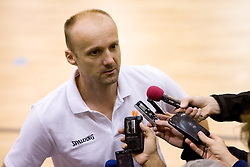 Head coach of Slovenia Jure Zdovc interviewed after the practice at the EuroBasket 2009, on September 17, 2009 in Szopienice Arena, Katowice, Poland.  (Photo by Vid Ponikvar / Sportida)