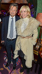 SALLY GREENE and PETER CLAYTON at an exclusive performance by Mark Ronson at Annabel's, Berkeley Square, London on 2nd March 2016.