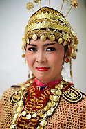 A sweaty traditional gamelan dancer poses for me in Jogja, Indonesia.