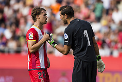 August 15, 2017 - Girona, Spain - 20 Bernardo Silva from Portugal of Manchester City and 01 Gorka Iraizoz from Spain of Girona FC during the Costa Brava Trophy match between Girona FC and Manchester City at Estadi de Montilivi on August 15, 2017 in Girona, Spain. (Credit Image: © Xavier Bonilla/NurPhoto via ZUMA Press)