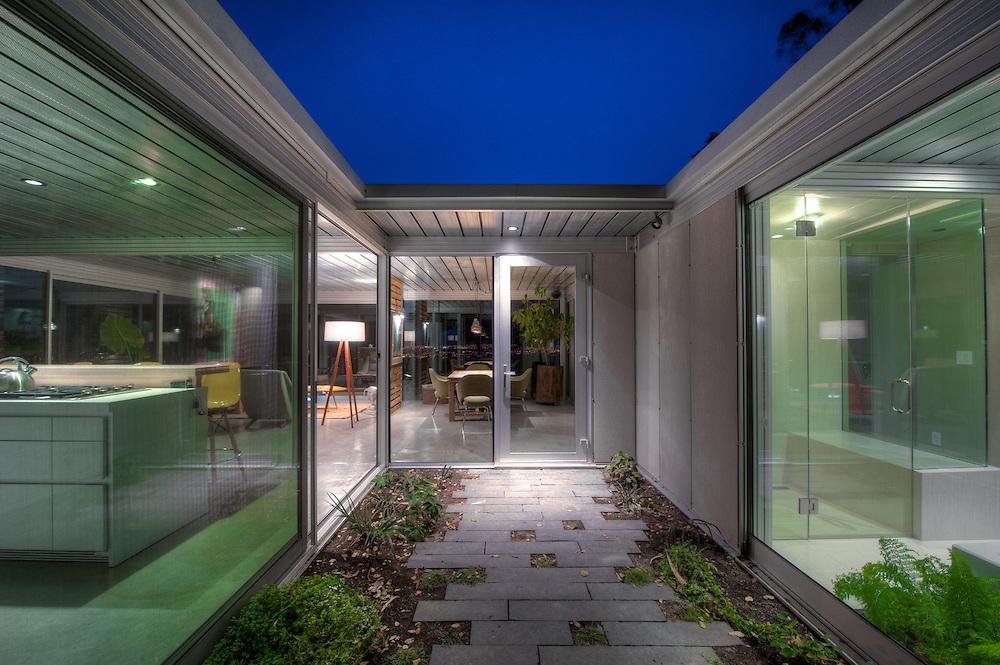 Glass house, modern style.