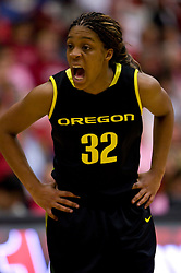 February 18, 2010; Stanford, CA, USA;  Oregon Ducks guard Nia Jackson (32) during the second half against the Stanford Cardinal at Maples Pavilion. Stanford defeated Oregon 104-60.