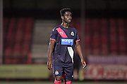 U21 Newcastle United's Gideon Adu-Peprah during the Barclays U21 Premier League match between U21 Brighton and Hove Albion and U21 Newcastle United at the Checkatrade.com Stadium, Crawley, England on 23 March 2016.