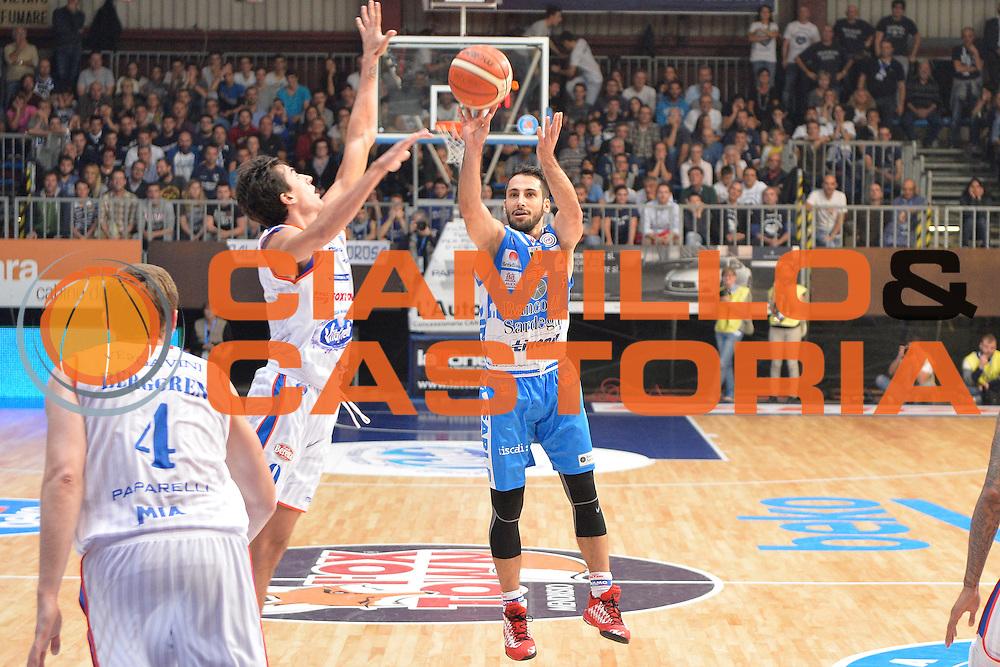 DESCRIZIONE : Cant&ugrave; Lega A 2015-16 Acqua Vitasnella Cantu' vs Dinamo Banco di Sardegna Sassari<br /> GIOCATORE : Stipcevic Rok<br /> CATEGORIA : Tiro<br /> SQUADRA : Dinamo Banco di Sardegna Sassari<br /> EVENTO : Campionato Lega A 2015-2016<br /> GARA : Acqua Vitasnella Cantu'  Dinamo Banco di Sardegna Sassari<br /> DATA : 12/10/2015<br /> SPORT : Pallacanestro <br /> AUTORE : Agenzia Ciamillo-Castoria/I.Mancini<br /> Galleria : Lega Basket A 2015-2016  <br /> Fotonotizia : Acqua Vitasnella Cantu'  Lega A 2015-16 Acqua Vitasnella Cantu' Dinamo Banco di Sardegna Sassari   <br /> Predefinita :