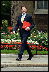 Deputy Prime Minister Nick Clegg arrives for Cabinet Meeting at No10 Downing Street, London, United Kingdom. Tuesday, 3rd September 2013. Picture by Andrew Parsons / i-Images