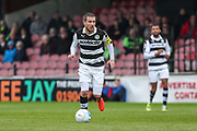 Forest Green Rovers Liam Noble(15) runs forward during the Vanarama National League match between York City and Forest Green Rovers at Bootham Crescent, York, England on 29 April 2017. Photo by Shane Healey.