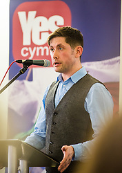 20-02-16. Cardiff, Wales,  UK. Launch Rally of YesCymru :a new cross-party grass-roots movement advocating an Independent Wales. The meeting had 100 activists from allover the Principality and a variety of differing party political views. Speaking were Iestyn ap Rhobert (Spokesperson).  More Info: Iestyn ap Rhobert: ietynap@hotmail.com post@yescymru.org 07817024319  http://yes.cymru  @yescymru  Picture credit: Ian Homer/LNP