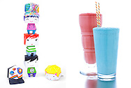 Colorful paper dolls and milkshakes