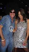 **EXCLUSIVE**.Collin Cowell & Cindy Crawford.Silly 70's Party with performances by Aerosmith, Earth Wind, Fire & Village People & Stevie Wonder.Opening of Cain at The Cove Hotel.Grand Ballroom.Atlantis Hotel.Paradise Island, Bahamas.Saturday, May 12, 2007 .Photo By Celebrityvibe.To license this image please call (212) 410 5354; or.Email: celebrityvibe@gmail.com ;.