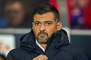 FC Porto manager, Sergio Conceicao before the Group G Europa League match between Rangers FC and FC Porto at Ibrox Stadium, Glasgow, Scotland on 7 November 2019.