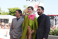 Venice, Italy, 31st August 2019, Gael García Bernal, Mariana Di Girolamo and Director Pablo Larraín at the gala screening of the film Ema at the 76th Venice Film Festival, Sala Grande. Credit: Doreen Kennedy/Alamy Live News