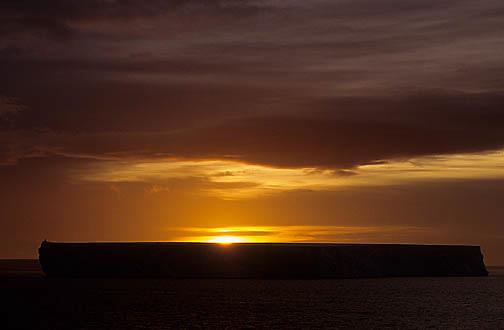 Antarctica, Sunset over tabular iceberg in Iceberg Alley in the Weddell Sea.