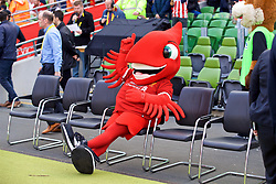 DUBLIN, REPUBLIC OF IRELAND - Saturday, August 5, 2017: Liverpool's mascot Mighty Red before a preseason friendly match between Athletic Club Bilbao and Liverpool at the Aviva Stadium. (Pic by David Rawcliffe/Propaganda)
