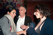 SERENA REES; RIFAT OSBEC; HENRIETTA CHANNON, Early launch of Rupert's. Robin Birley  new premises in Shepherd Market. 6 Hertford St. London. 10 June 2010. .-DO NOT ARCHIVE-© Copyright Photograph by Dafydd Jones. 248 Clapham Rd. London SW9 0PZ. Tel 0207 820 0771. www.dafjones.com.