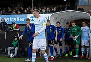FODBOLD: Andreas Holm (FC Helsingør) leder sit hold på banen til kampen i NordicBet Ligaen mellem FC Helsingør og HB Køge den 17. marts 2019 på Helsingør Stadion. Foto: Claus Birch