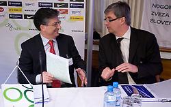 Sinisa Mitrovic and Marcel Benz at Management conference of Slovenian Football Federation, on March 10, 2009, in Hotel Kokra, Brdo pri Kranju, Slovenia. (Photo by Vid Ponikvar / Sportida)